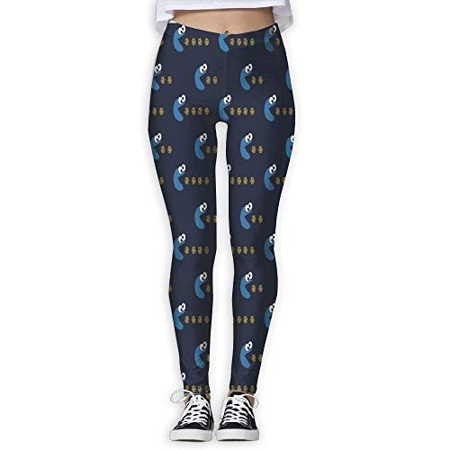DLing Cookie Monster Frauen Fitness Yoga Leggings Sport Yoga Hosen,M