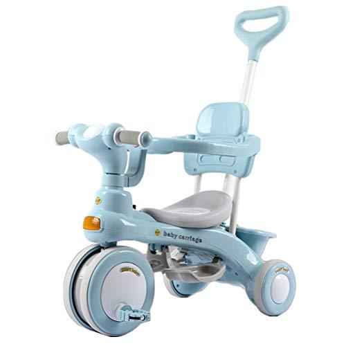 Suszian Triciclo, Triciclo para bebés, Primera Bicicleta para niños, Cochecito, Funciones de Rueda gratuitas, Asa para Padres, Reposapiés, Accesorios, de 6 Meses a 6 años