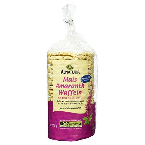 Alnatura Bio Mais-Amaranth-Waffeln mit Salz, vegan, 12er Pack (12 x 115 g)