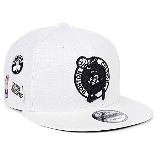 New Era Boston Celtics Snapback Adjustable Night Sky Hat Cap - White
