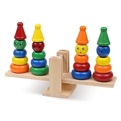 Boxiki kids - Wooden Clown Stacker Toy