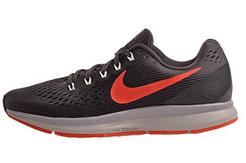 Nike Men's Air Zoom Pegasus 34, Thunder Grey/Bright Crimson, Size 9
