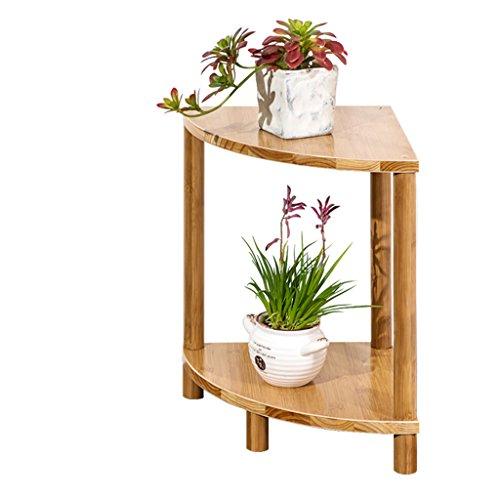 Stand de Fleurs- en Forme d'éventail Balcon Fleur Étagère en Bois Massif Multi-étages Salon Plancher Pot De Fleurs Simple Bambou Fleur Étagère (Taille : 40 * 30 * 30cm)