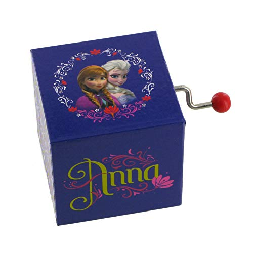 Lutèce Créations Boîte à Musique à manivelle en Bois La Reine des neiges - Frozen avec Anna et Elsa (Réf: 70-431) - for The First Time in Forever (Robert Lopez)