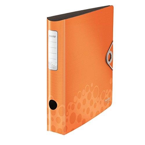 Leitz 10480045 Active Bebop Qualitäts-Ordner 180° (Polyproplyen, A4, schmal) orange