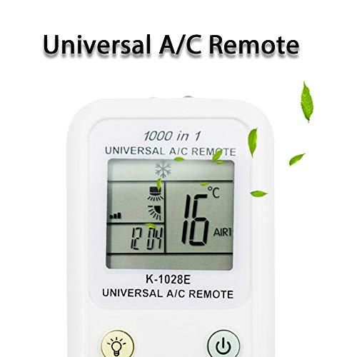 Loutoc K-1028E Universal-Klimaanlagenfernbedienung 1000 in 1 für TOSHIBA HITACHI FUJITSU PANASONIC LG SHARP SAMSUNG und andere Klimaanlagen