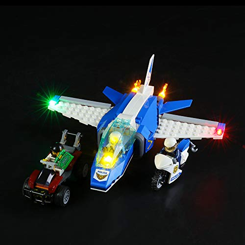 BRIKSMAX Kit de Iluminación Led para Lego Policía Aérea Arresto del Ladrón Paracaidista,Compatible con Ladrillos de Construcción Lego Modelo 60208, Juego de Legos no Incluido