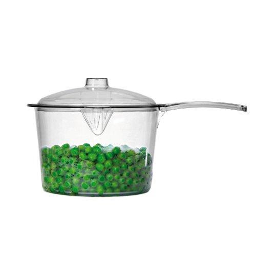 Dexam 2 Piezas 0,6 litro policarbonato y plástico para microondas cazo con Tapa