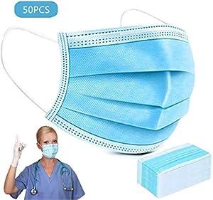 50 Mask, a 3 Strati Mаsks, la Protezione Mascherina, può Essere utilizzato in, Negozi Animale Domestico e Dove Richiede la Protezione delle Vie respiratorie