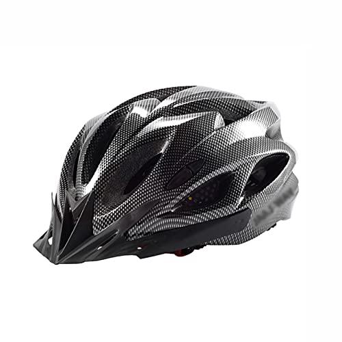 Yaxing Casco de Bicicleta de Carretera para Adultos,Casco de Ciclismo Ligero Ajustable,Casco Bicicleta con luz de Seguridad,Transpirable de Moda,para Mujeres Adultas Hombres 58-61cm