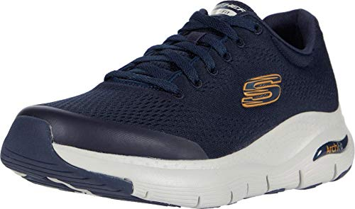 Skechers Herren Arch Fit Sneaker, Blau (Navy Textile/Synthetic/Trim NVY), 45 EU