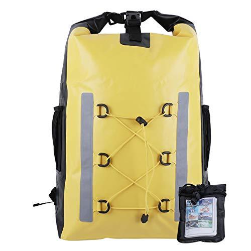 Mochila seca flotante, bolso de deportes acuáticos a prueba de agua 30L con estuche a prueba de agua, caminata, mochila seca, correas de hombro para la playa, kayak, camping, canotaje