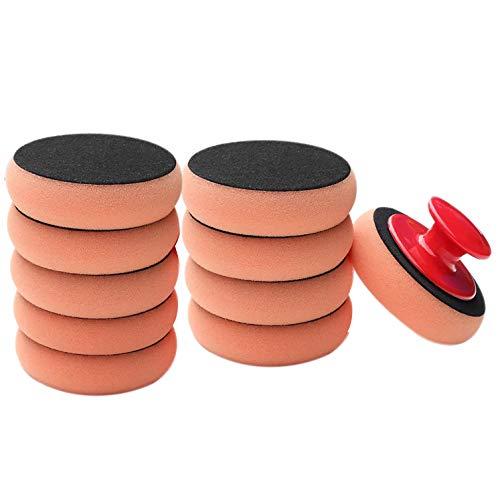 Fltaheroo 10Pcs/Set Car Wash Wax Polish Pad Polishing Pad Sponge Car Cleaning Cloth Microfiber Applicator Pads Pulidora De Coche