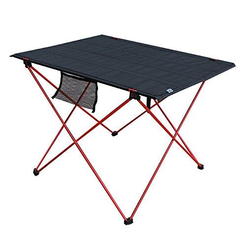 LVZAIXI Table de Camping portative légère Table de Pique-Nique compacte Pliable Roll Up avec Sac de Transport pour la Plage de Camp en Plein air (Couleur : Rouge)