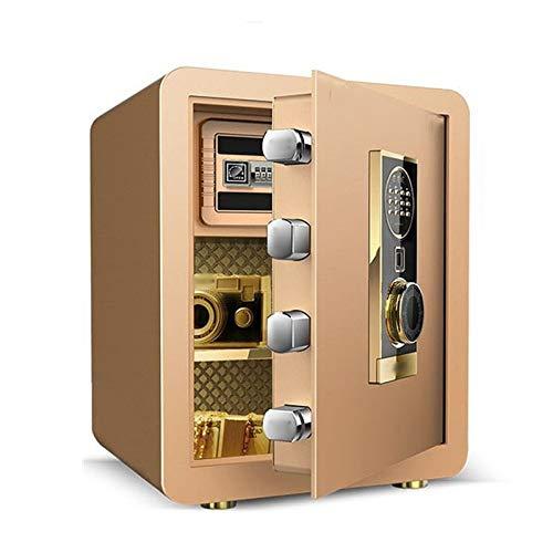 YWSZJ Casa e Ufficio Uso Sicuro delle Impronte digitali elettroniche Password Safe Collection Box Password Valigia Cassetta di Sicurezza (Color : Gold)