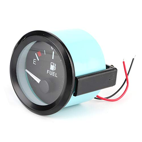 Kraftstoffanzeige, 52 mm Universal-Kraftstoffstandsanzeige für Autos LED Digital E-1/2-F-Entfernungsmesser mit Kraftstoffsensor