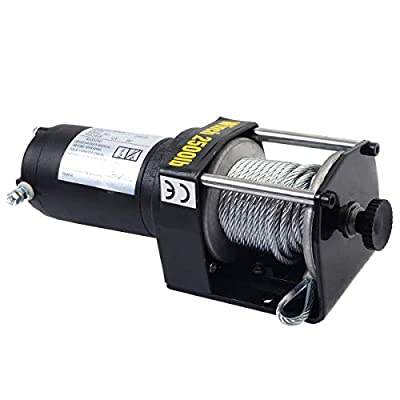 Tangkula 2500lbs 12V Electric Recovery Winch, Truck SUV Wireless Remote Control
