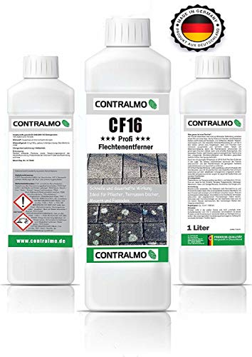 Contralmo CF16 Profi Flechtenentferner 1 Liter anwendungsfertig, Flechten entfernen, Pilzentferner, Geweg, Pflastersteine