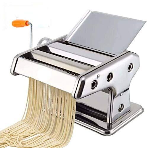 LaceDaisy RVS Handmatige Pasta Maker Machine Noodle Cutter, Pasta Ravioli Maker Deegroller voor Spaghetti en Lasagna Tagliatelle Fettuccine, 2 bladen (zilver)#1