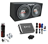 MTX TNE212D 12' 1200W Dual Loaded Subwoofer Box + 1500W Amplifier + Capacitor
