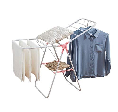 TONGSH Tendedero de ropa Plegable, compacto, de metal, lavandería, Rack de secado Estante de ropa, para uso en interiores y al aire libre Mejor utilizado para camisas Pantalones Toallas Zapatos antico