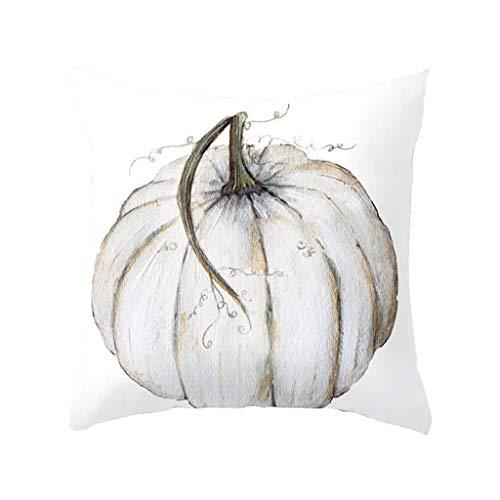 Javntouy Cushion Cover Sofa Car Pillow Case Cover 4PC Halloween Linen Pillowcase Sofa Pad Set Home Decoration 18x18 Inch