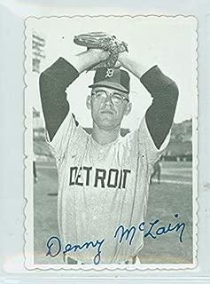 1969 Topps Deckles 8 Denny McLain Detroit Tigers Excellent to Mint