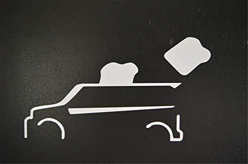 Autosticker, autosticker, Xb, broodrooster, raamsticker, 15 cm