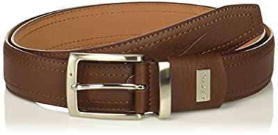 Nike Men's Standard G-Flex Pebble Grain Leather Belt, brown, 36