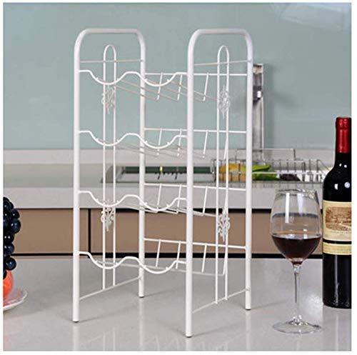 NBVCX Estante de Vino de decoración del hogar, Estante Creativo Moderno Simple, Sala de Estar Europea, gabinete de Vino, Soporte de exhibición, Adornos de Metal