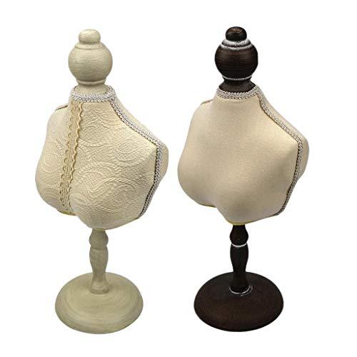 harayaa 2 Piezas Maniquí Joyería Busto Collar Colgante Soporte de Joyería