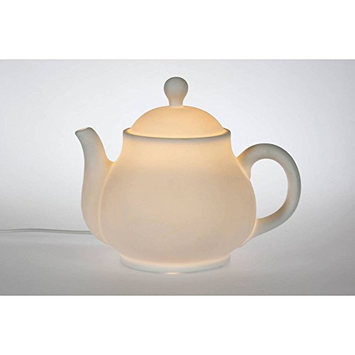 Plaristo Porzellanlampe, Keramik, Weiß