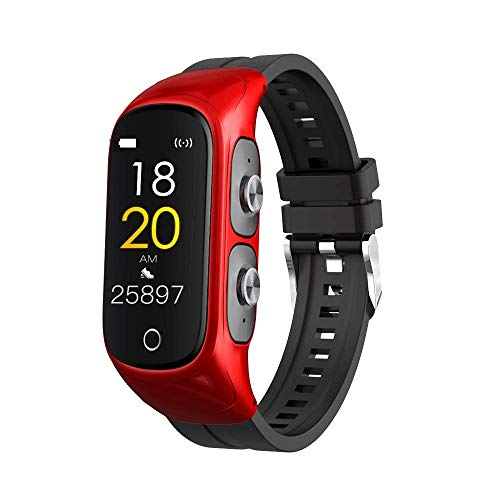 LC.IMEEKE Smartwatch für Damen Herren mit Kabellosen Bluetooth Kopfhörer, Fitnessuhr Fitness Tracker Armband Uhr mit Pulsmesser Aktivitätstracker Pulsuhr Schrittzähler, IP67 Armbanduhr Sportuhr