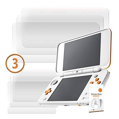 Orzly 2DSXL DisplaySchutzfolien, Multipackung mit 6 Schutzfolien für New 2DS XL (3 pro Bildschirm) - Voll-Transparent Display schutzfolien für das Neu Nintendo 2DS XL (2017 Version)