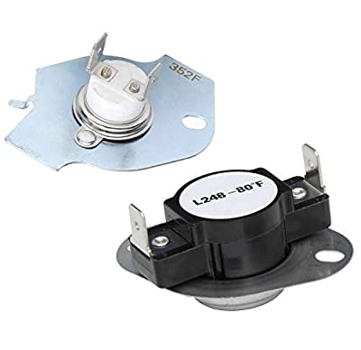 279769 Dryer Thermal Cut-Off Kit Replacement Part - Exact Fit for Whirpool & Kenmore dryers - Replaces 3389946, 3398671, 3977394, 695563, AP3094224, 3390291