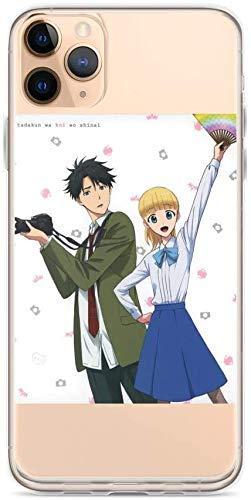 ZHENYU Pure Clear Case Transparant Zachte TPU Beschermende Cover iPhone Case Tada-kun Wa Koi Wo Shinai Koffie Tijd Gesprekken Nooit Vallen in Liefde Anime, iPhone 11