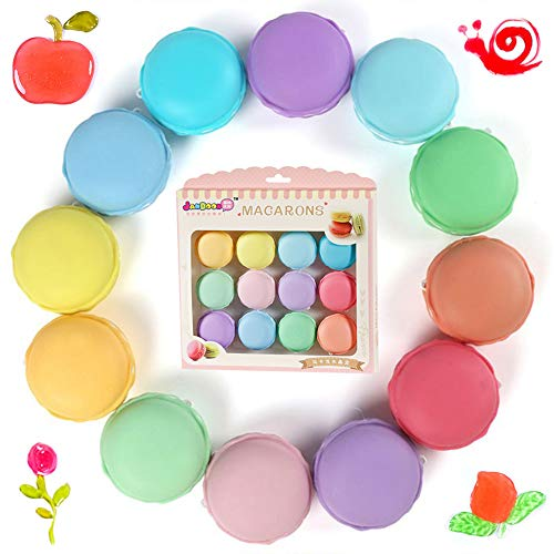SWZY Macaron Fluffy Slime Kit,Butter Slime,Fluffy Slime Stretchy & Soft Clay Toys Stress Relief Toy Macaron Crystal Mud,Giocattolo di Fango profumato Bambini Adulti...