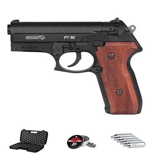 Gamo PT-80 20th Anniversary | Pack Pistola de balines (perdigones de Plomo) con maletín. Arma de Aire comprimido CO2 Calibre 4,5mm <3,5J