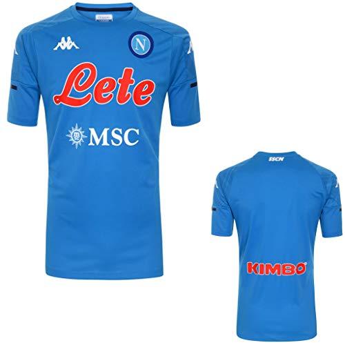 MAESTRI DEL CALCIO Maglia Allenamento Azzurra SSC Napoli 19/20 Personalizzata Personalizzabile (XL)