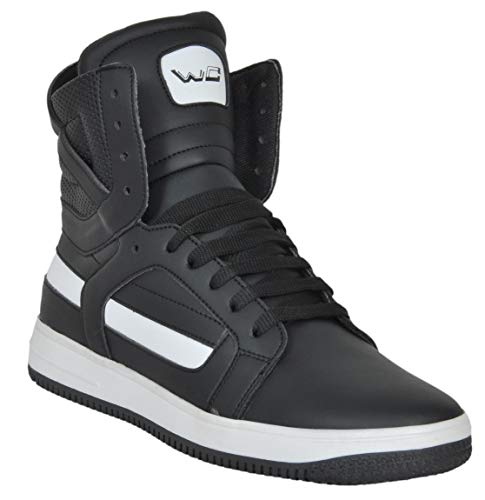 West Code Mens Synthetic Leather Casual Hip Hop Shoes 9078 Black 8 Size