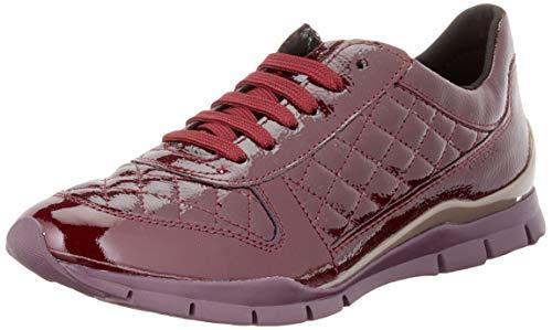 Geox D Sukie D, Zapatillas Mujer, Rojo Burdeos C7005, 39 EU