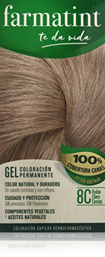 Farmatint Gel 8C Rubio Claro Ceniza | Color natural y duradero |...