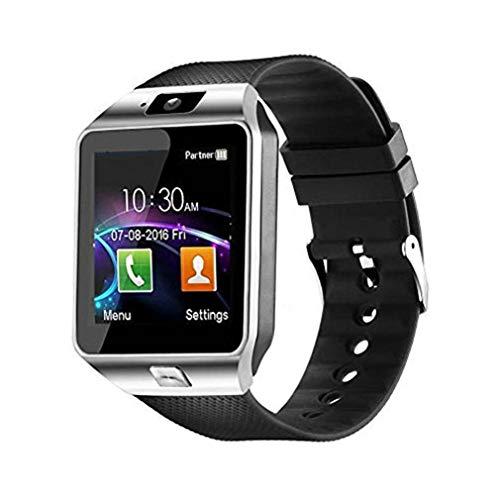 Nsdsb Reloj Inteligente con Pantalla táctil DZ09 con cámara Reloj de Pulsera Tarjeta SIM Smartwatch Plata