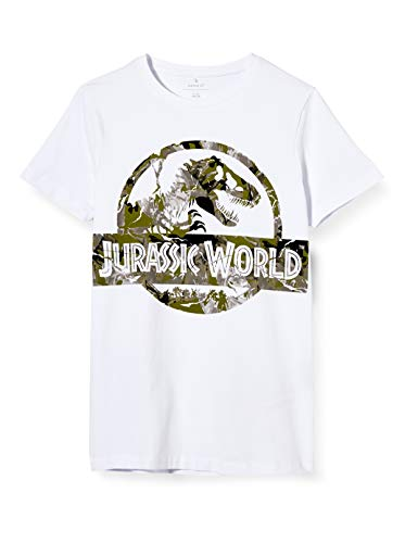 NAME IT Jungen NKMJURASSIC MAXA SS TOP LIC T-Shirt, Bright White, 116