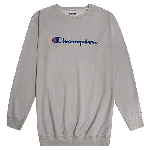Champion Mens Big and Tall Crewneck Logo Pullover Sweatshirt