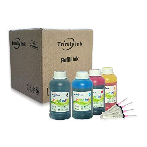 Trinity Compatible Refill Ink Replacement for Epson 502 T502 Expression ET-2700 ET-2750 ET-3700 Workforce ET-3750 ET-4750 ET-4752 (Black, Cyan, Magenta, Yellow, 4x250ml)