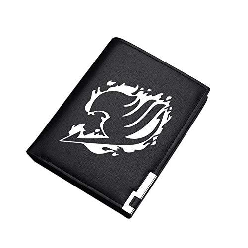 Fairy Tail Coin impresión de la Manera Sección Larga Cartera Exquisito único Paquete de la Tarjeta Monedero Unisex (Color : Black05, Size : 12 X 10 X 1.5cm)