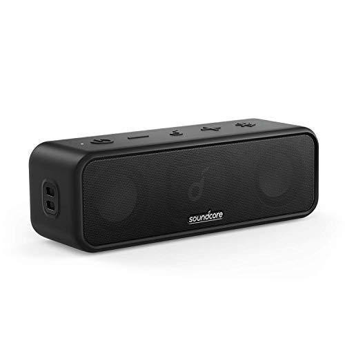 Soundcore 3 Bluetooth Lautsprecher von Anker, mit Stereo-Sound, Audiotreiber mit Titan-Membran, PartyCast, BassUp, 24 Stunden Akku, IPX7 Wasserschutz, individueller EQ(Generalüberholt)