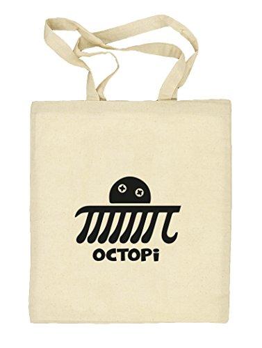 Shirtstreet24, Octopi, Natur Stoffbeutel Jute Tasche (ONE SIZE), Größe: onesize,natur