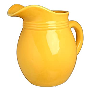 Hill's Park's 6.25  x 6  Golden Yellow Decorative Pitcher